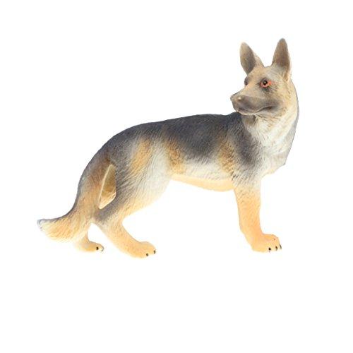 D DOLITY Mini Réaliste Figurines Animal Sauvage Jouet Animal pour Cadeaux Collection d'enfants - Loup Chien