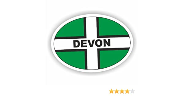 Sea View Stickers England Plain Oval Car Sticker