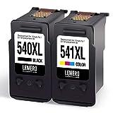 2 LEMERO PG-540XL CL-541XL Wiederaufbereitet Druckerpatronen für Canon 540 541 PG-540 CL-541 für Canon Pixma MG4250 MG3550 MG4150 MG2150 MG2250 MG3150 MG3250 MX395 MX525 MX515 MX435 MX375 MX455 MX525