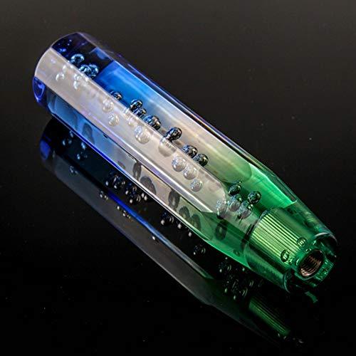 Preisvergleich Produktbild Schaltknauf,  Schaltknauf für Universalauto mit Schalthebel,  Anis mit flachem Kristallblasen-Schaltknauf für Automontage(Blau + Grün)