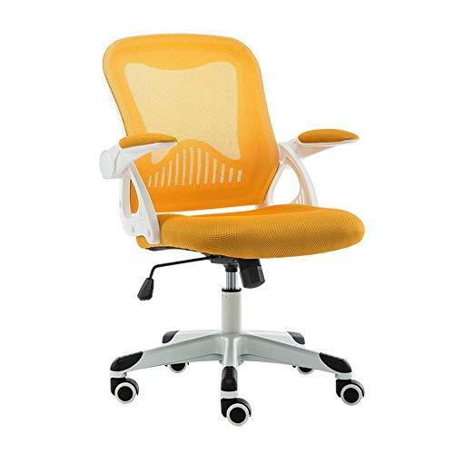 MU Bürostuhl Zu Hause Computer Stuhl Mesh Stoff Student Stuhl Ergonomische Studie Stuhl Montage Heben Drehstuhl,Orange,1