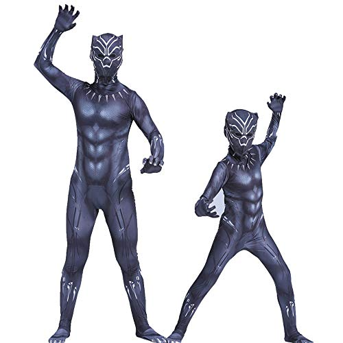 Black Panther Kleidung Marvel Heroes Avengers Erwachsene Cosplay Panther Dünne Overall Halloween Kostüm Kind Erwachsene (Erwachsene Avengers Kostüm)