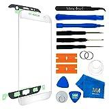 MMOBIEL Front Glas Reparatur Set für Samsung Galaxy S7 Edge G935 Series (Weiß) Display mit 11 TLG. Werkzeug-Set