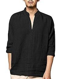 Camisetas Hombre Manga Larga Camisas De Hombre Manga Larga AIMEE7 Camisetas De Hombres Sueltos Camisetas Hombre