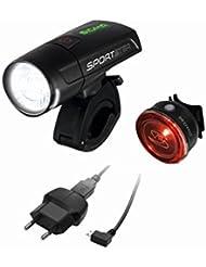 Sigma Sport Unisex Beleuchtung Sportster/Mono Rl K Set LED Frontleuchte