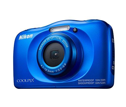 "Nikon Coolpix W100 - Cámara Digital compacta DE 13.2 MP con Mochila (Pantalla LCD DE 2.7"", CMOS, Snapbridge, VR, Objetivo Nikkor, USB, Vídeo Full HD, WiFi) Azul"