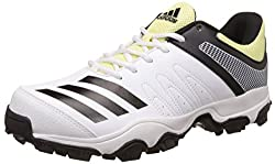 adidas Mens Howzat Ind Ftwwht, Cblack and Iceyel Cricket Shoes - 8 UK/India (42 EU)