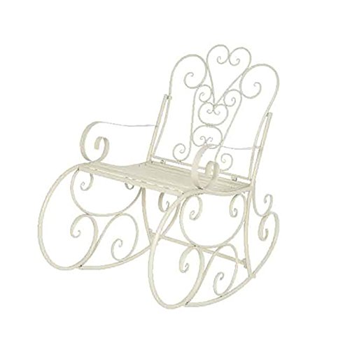 Kaemingk Sedia a dondolo in ferro Vienna bianca 96x62x102cm