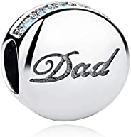 Eternalll Love Life Dad Mom Sister Bead Charms Authentic 925 Sterling Silver Jewellery Crystal Beads Love Fami