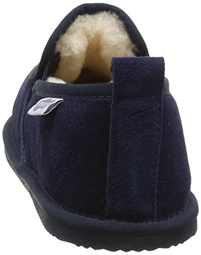 SNUGRUGS Genuine Sheepskin With Lightweight Sole, Chaussons homme Bleu - Bleu (Bleu marine)