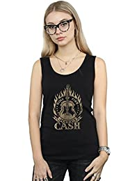 Johnny Cash Mujer Ring of Fire Camiseta Sin Mangas