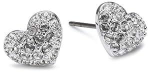Swarovski Damen-Ohrringe  rhodinierter Edelstahl Heart 1801352