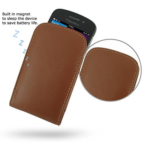PDAir Blackberry Q10 Handyhülle Tasche (Braun), Echtleder Handyhülle Tasche Schutz Cover Telefonkasten, Handarbeit Prämie Vertical Tasche Für Blackberry Q10 (No Gürtelclip) (Blackberry Otterbox Q10)