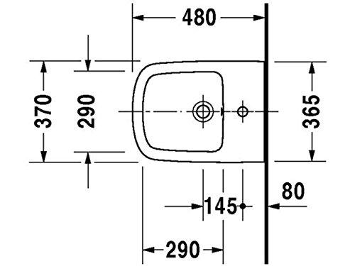 Duravit DuraStyle Wand-Bidet Compact Lieferbar ab Juli!! • mit Überlauf ^^Hl 370 x 480mm, weiß mit W