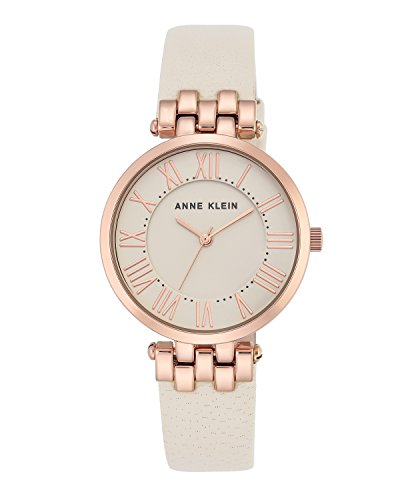 anne-klein-womens-claire-quartz-watch-with-off-white-dial-analogue-display-and-cream-leather-strap-a