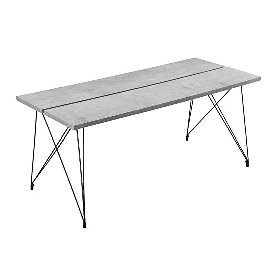 [en.casa] Esstisch Küchentisch - 178x78x77cm Esszimmertisch Tisch Esszimmer in Zwei Farben