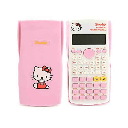 Hello Kitty Taschenrechner/Wissenschaftlicher Funktionsrechner/350MS Computer/82MS Multifunktionsrechner (pink)