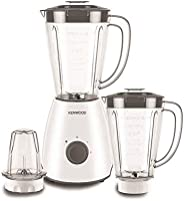 Kenwood Blender 400 Watts with 1 Mill, White, 2x 2L, BLP10.E0WH, 3piece