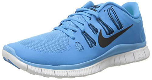NIKE Chaussures de course NIKE Free 5.0+ pour Homme bleu (Vvd Bl-Blk-Grn Abyss-Smmt Wht)