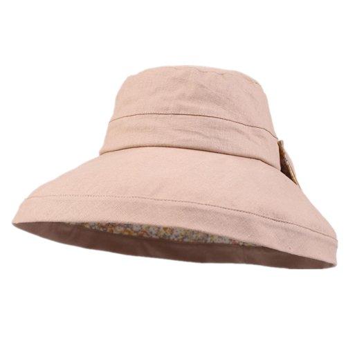 Kenmont femmes d'été Wide Large Brim Solide Couleur pliable Chapeau Plage Cap Kaki