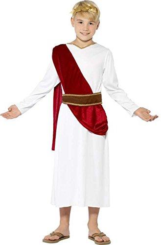 Smiffys Costume Antico Romano, bianco, con Veste, Cinta e Copricapo 1 spesavip
