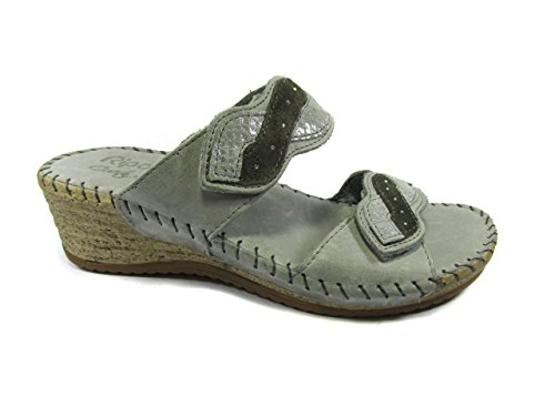 RIPOSELLA SANDALO IN PELLE CUCITO A MANO - MADE IN ITALY 37, Grigio MainApps