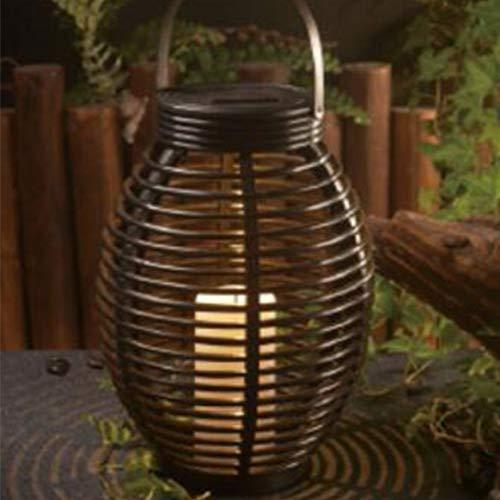 Kerzen-Dekorationslampe, Rattan-Effekt, multifunktional, UV-wasserdicht, energiesparend, für Garten und Balkon