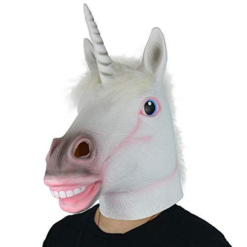 ZHCS Halloween Party Einhorn Pferdekopf Maske Hund Ma Jun GrüN Latex Tier Maske Schimmel Kopfbedeckung (Awesome Kostüm Für Hunde)