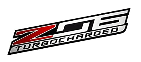 Z06 TURBOCHARGED Highly Polished Aluminum EMBLEM for Chevy Chevrolet CORVETTE C6 C7 in Red Black Silver