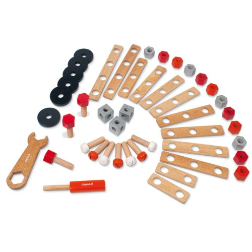 Janod 4506506 - Accesorios para juego de construcción (45 partes)