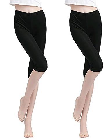 Vinconie Women Cropped Cotton Leggings 3/4 Pants Underwear Summer Plus Size