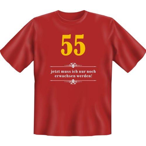 55 - jetzt muss ich nur noch erwachsen werden! Farbe: Dunkelrot Dunkelrot