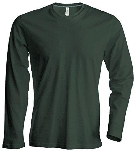 Herren T-Shirt Langarm Rundhals Shirt, leicht körperbetont, in 20 Farben und den Größen S, M, L, XL, 2XL, 3XL u. 4 XL von noTrash2003 Khaki