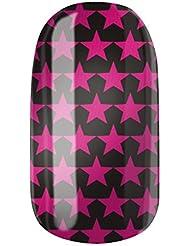 Nagelfolien/Glamstars selbstklebend mit individuellen Designs by Glamstripes- made in Germany. 12 Nail Wraps äußerst strapazierfähig mit langer Haltedauer