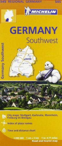 Germany Southwest Regional Map 545 (Michelin Regional Maps) por Michelin