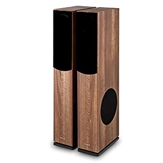 Auna Linie 501 FS-WN Passive Tower Floor Speaker • Pair • 280W • 3-Way Speaker • Side 20 cm (8
