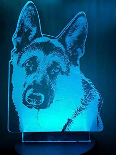 3d Loup Chien Illusion lampe de lumière de nuit 7 couleurs changeantes Touch USB Table Nice Cadeau jouet Décoration