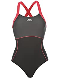 Slazenger Womens X Back Swim Suit Ladies One Piece Swimsuit Beachwear Swimwear
