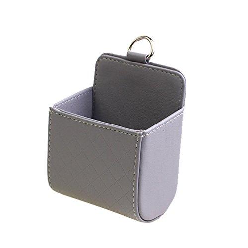 HUPLUE KFZ Halterung Air Vent Handy Halterung Auto Mount Pocket Organizer Auto Halterung Pouch Bag Box AUFBEWAHRUNG Medaille Key Fall Sonnenbrille Organizer Grau