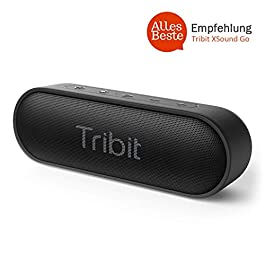 Bluetooth Speakers, Tribit XSound Go 12W Portable Speaker Loud Stereo Sound, IPX7 Waterproof, Rich Bass, 24 Hour Playtime, 20M Bluetooth Range Outdoor Party Wireless Speaker-The Telegraph's Choice