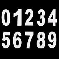 Pangda 0 à 9 Numéro Wheelie Grand Numéro Autocollant de Bac Numéro Autocollants, 17,5 cm par 9,5 cm, Blanc, 20 Pièces