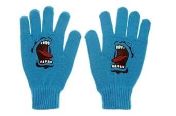 Santa cruz gants bleu