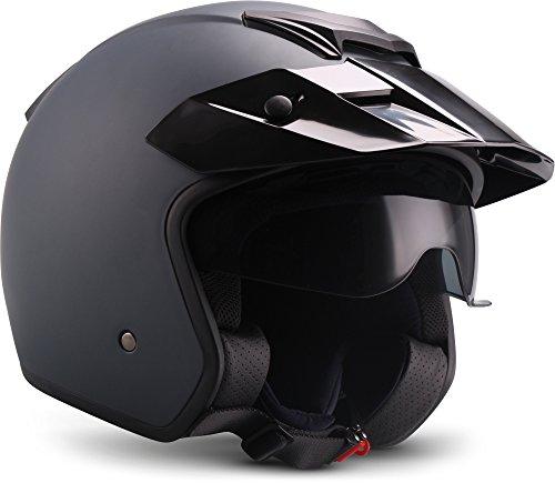 """Soxon  S77 \""""Navy\""""  Jet-Helm  Mofa Bobber Motorrad-Helm Scooter-Helm Roller Chopper  ECE zertifiziert  Visier  Extra kleine Helmschale  Click-n-Secure Verschluss  Tragetasche  XL (61-62cm)"""