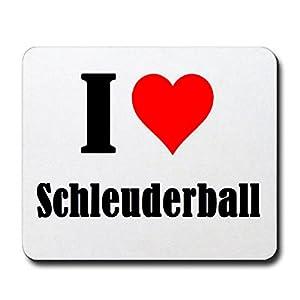 Gaming Mauspad I Love Schleuderball in Weiss, eine tolle Geschenkidee die von...