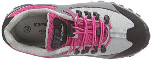 Ice Peak Waheed Jr, Chaussures de randonnée mixte enfant Gris - Grau (615 light pink)