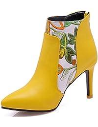 Cremallera es Tacón Rojas Botas Zapatos De Amazon zwZWFqPgxF