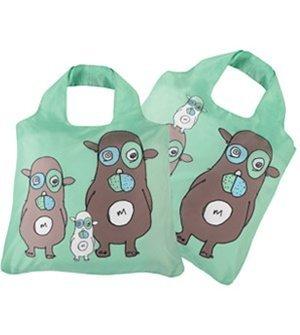 Envirosax Baa, Maa & Paa–zusammenklappbar; Wiederverwendbare Einkaufstasche–Tasche für Life