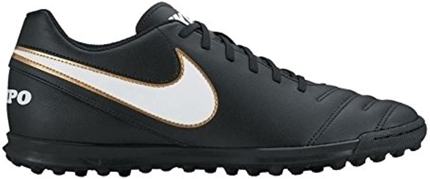 TiempoX Rio III TF Junior Astro Turf Trainers - Black