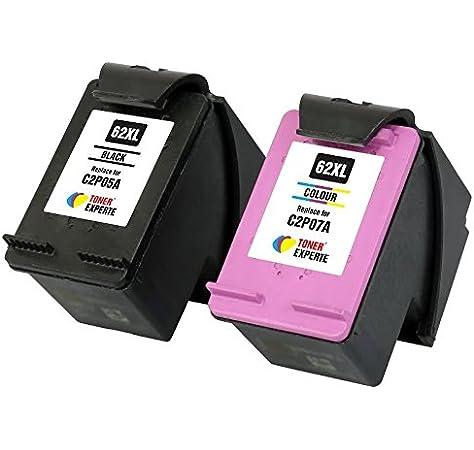 2 Cartucce Set per HP 62 XL Black Color Envy 5540 5600 5640 5642 5643 5644 5660