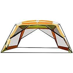 HWShop Camping Lonas, Ultraligero y Tejido de Fibra de poliéster portátil, Rip Resistente Camping Tarp para Cualquier Clima, Uso para Refugio o sombrilla Ideal para Practicar Senderismo